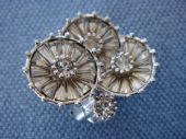 1950s signed Pennino Earclips - diamante flowers (Sold)